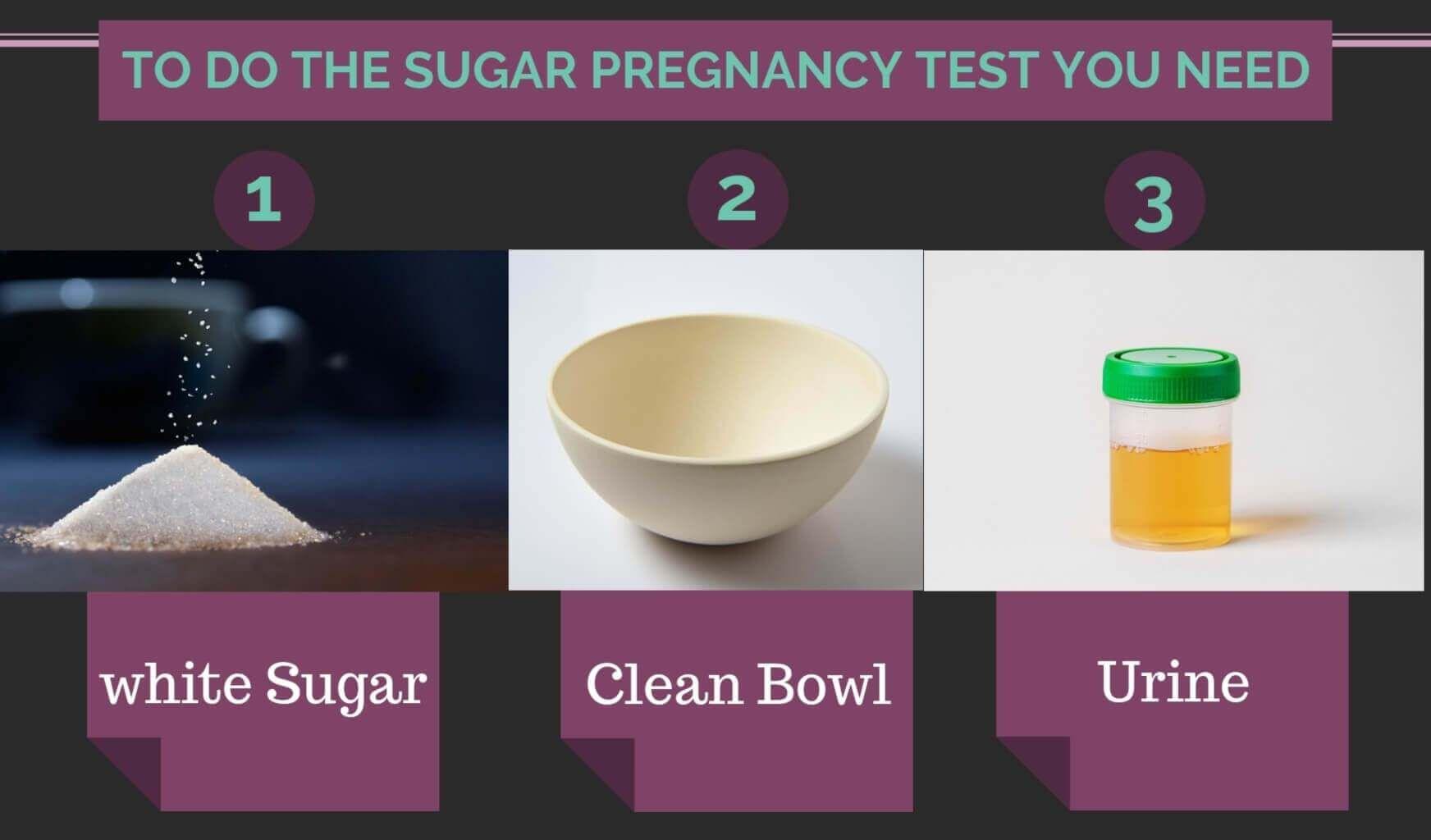 diy pregnancy test sugar