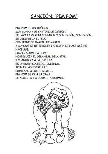 Pin Pon Lyrics : lyrics, Lyrics-, Classroom, Songs,, Preschool, Spanish, Language