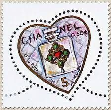 Chanel stamp (French Poste Office) for Valentine's Day 2004 #CocoChanel Visit espritdegabrielle.com | L'héritage de Coco Chanel #espritdegabrielle