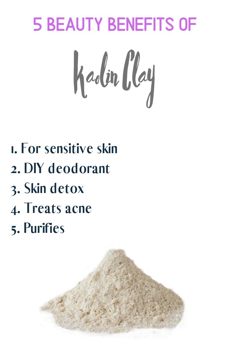 Beauty Benefits Of Kaolin Clay Skindetox Kaolinclay Beautybenefits Naturalbeauty Purifies Skincare Skincar How To Treat Acne Skin Detox Diy Deodorant