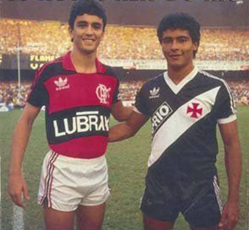 Bebeto Flamengo e Romário Vasco da Gama Bola
