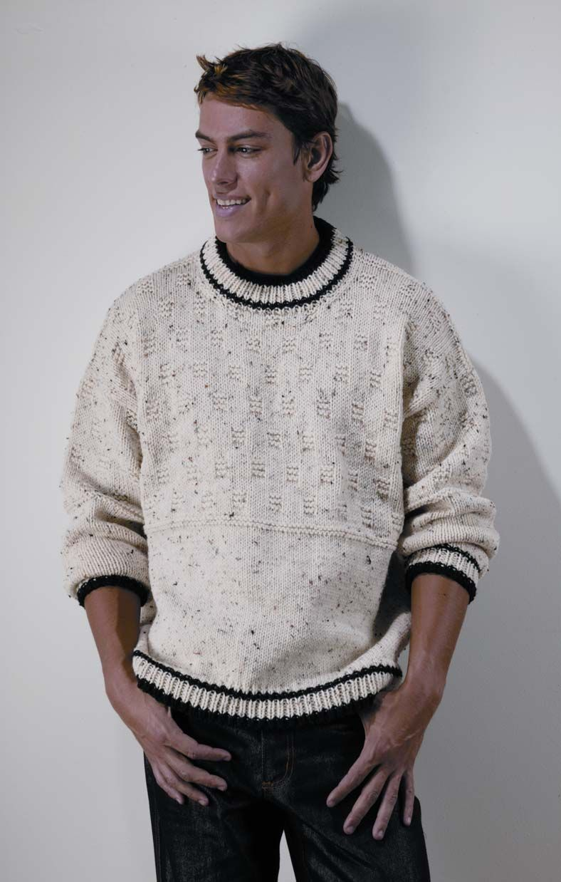 This was my first attempt at a sweater. Made it for my husband in ...