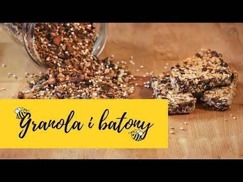 Batoniki Owsiane Granola Słodka Kuchnia Pszczółek