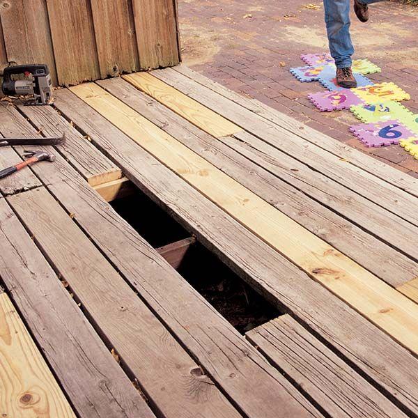 Replacing Deck Boards Building A Deck Diy Deck Deck Repair