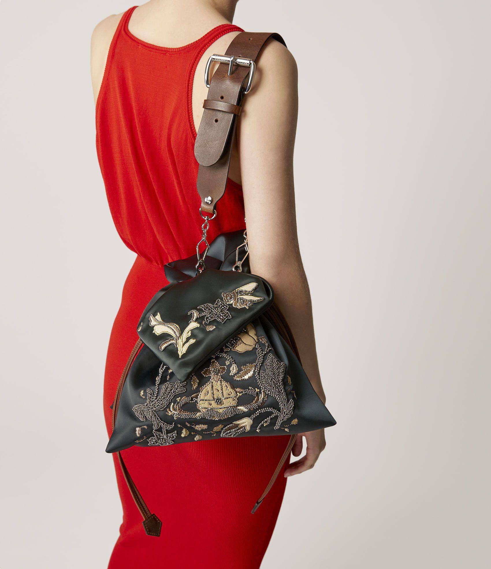 547bfea79 Vivienne Westwood Women's Designer Handbags | Shop Vivienne Westwood -  Satin Dolly Large Evening Bag