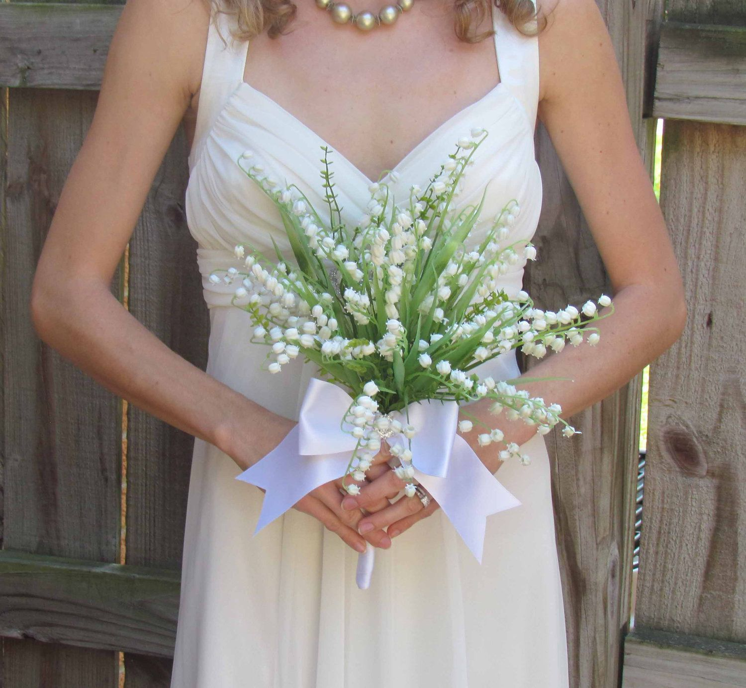 Wedding Bouquets Lilly Valey Lily Of The Valley Bouquet Ready To Ship By Justanns