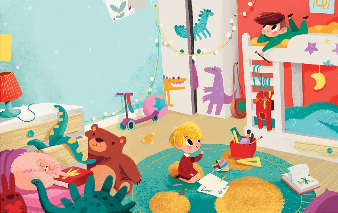 A book about dinosaurs on behance children illustration