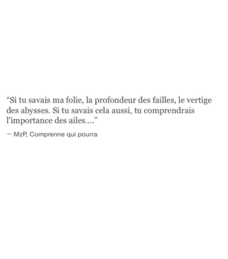 Si Tu Savais Ma Folie La Profondeur Des Faille Le Vertige