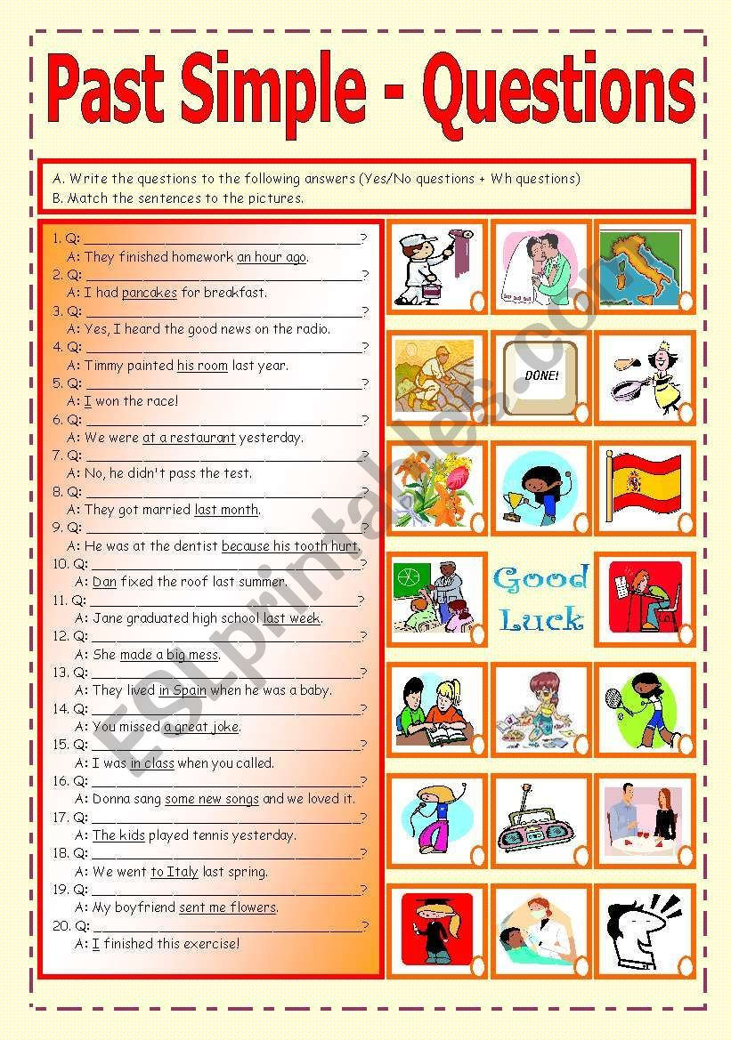 3rd Ws In The Question Formation Set Write The Questions To The Answers And Match Sentences This Or That Questions Irregular Verbs Regular And Irregular Verbs [ 1169 x 821 Pixel ]