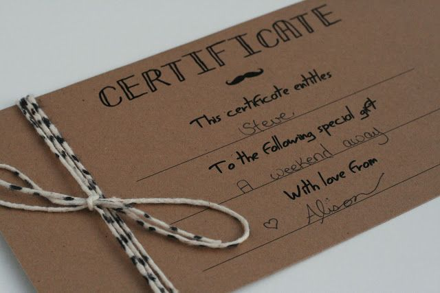25 Gifts to Make for Men Blank gift certificate, Gift and - christmas gift certificates free