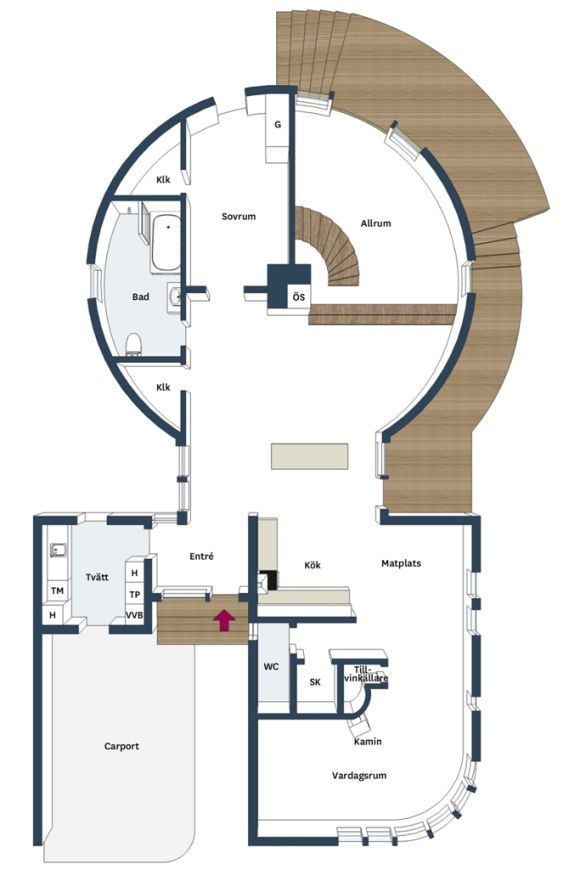 Det Runda Huset Floor Plans Ground Floor Plan Round House
