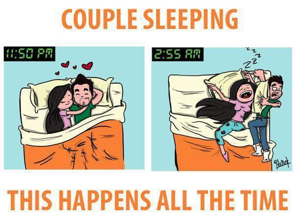 Together memes sleeping couples 26 Types