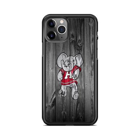 Alabama Crimson Tide Elephant Logo Dark Wood Wallpaper