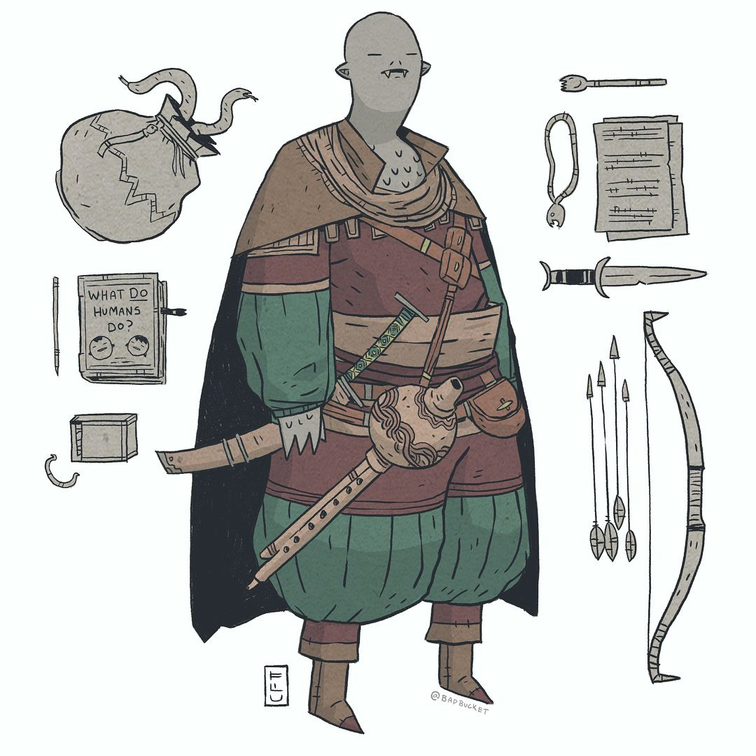 character design Sketches Anatomy is part of Character Design Collection Female Anatomy Iamag Co - a snakemen commission  got to do some items on this one  Like that bag of tricky snakes    dnd illustration fantasy characterdesign roleplay tabletop drawingoftheday costumedesign art digitalart conceptart comics