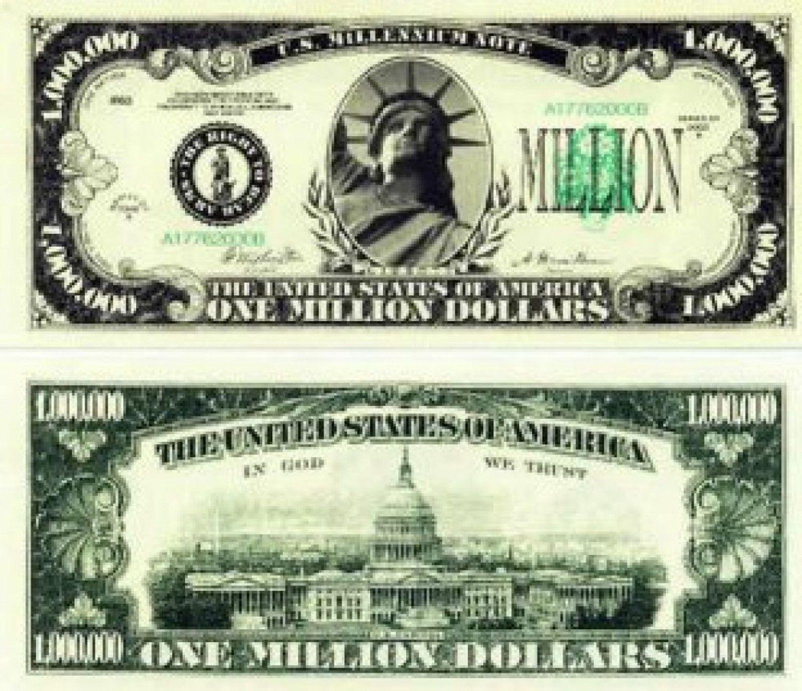 Set Of 100 Million Dollar Bills Very Realistic Looking Same Size As Real Mone Dollar Bill 100 Million Dollars Dollar Money