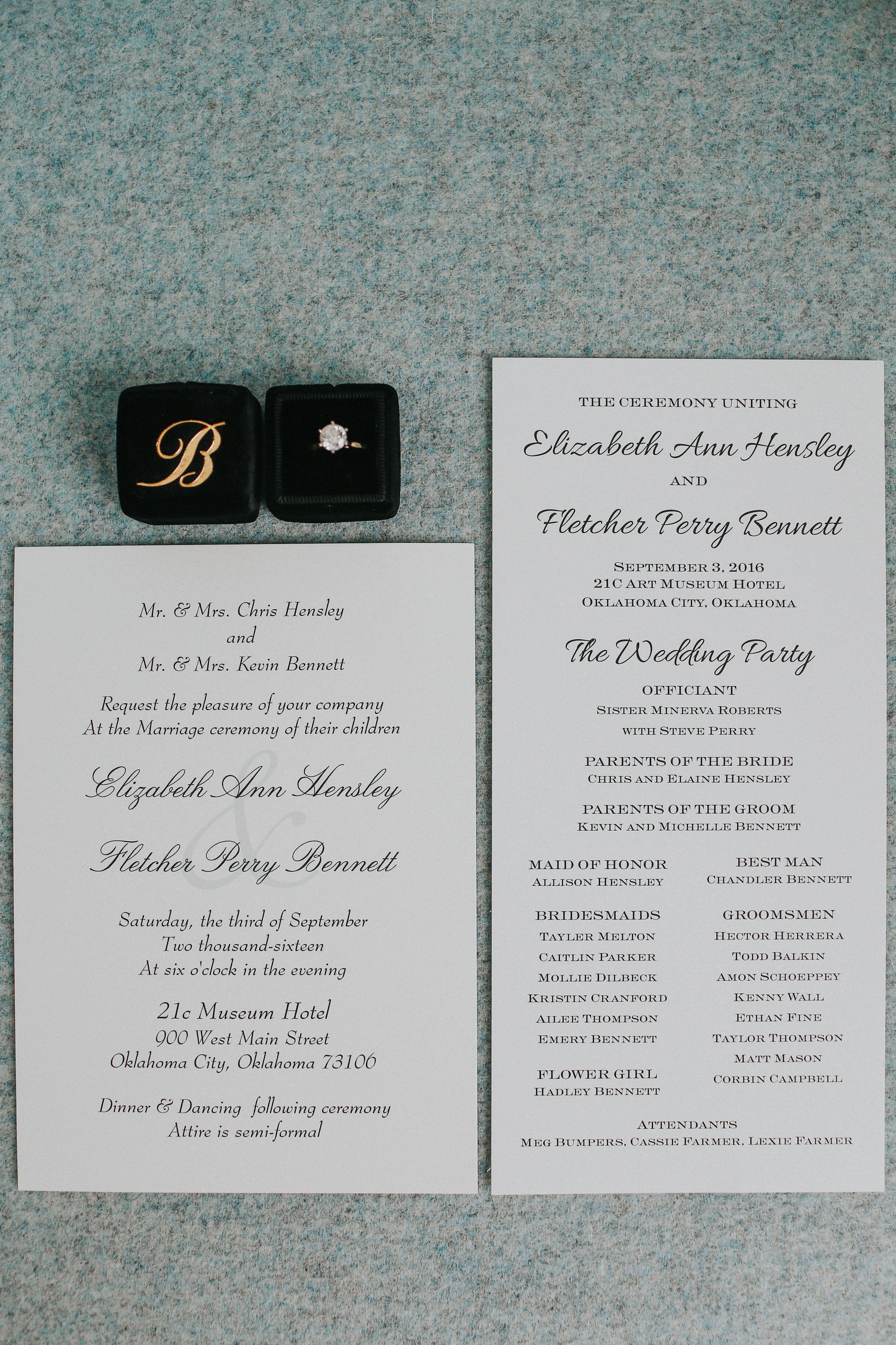 Wedding Invitations   21c Weddings   21c Oklahoma City   21c ...
