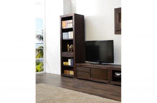 tv unterschrank tecky massiv akazie in kolonialfarbe holz moebel modern tall cabinet storage