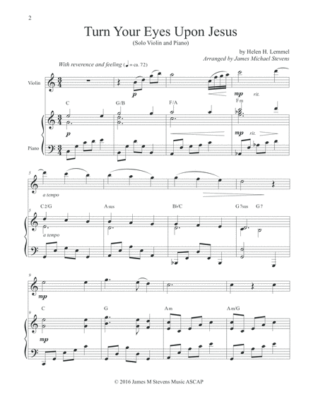Turn Your Eyes Upon Jesus - Solo Violin | Music | Pinterest ...