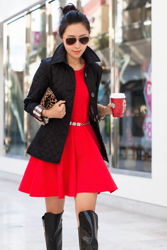 Burberry Brit 'Copford' Quilted Jacket,holiday dress, red holiday ...