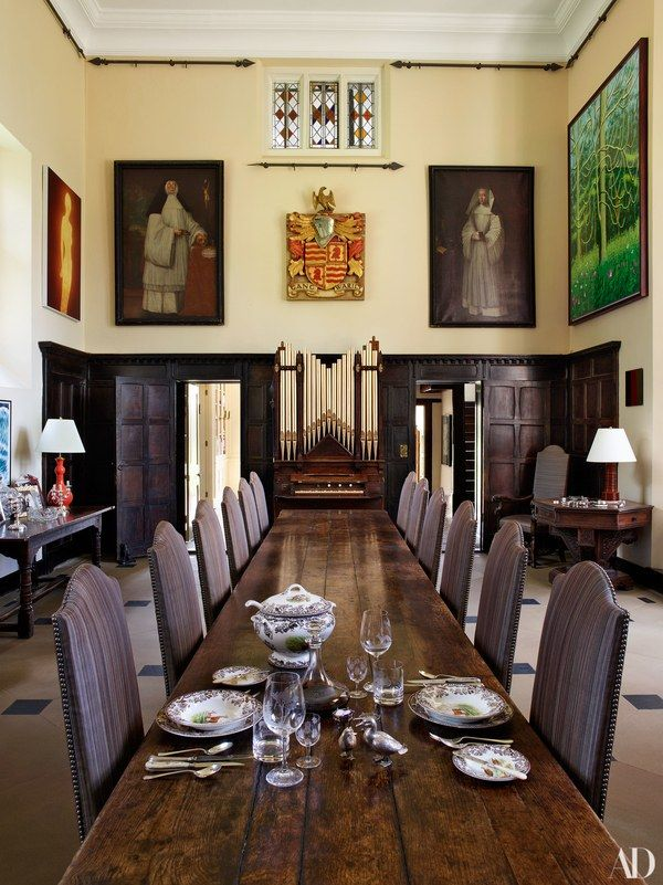 Habitually Chic® » Claudia Schiffer's Tudor Mansion  Dining Rooms Captivating Oak Dining Room Decorating Inspiration