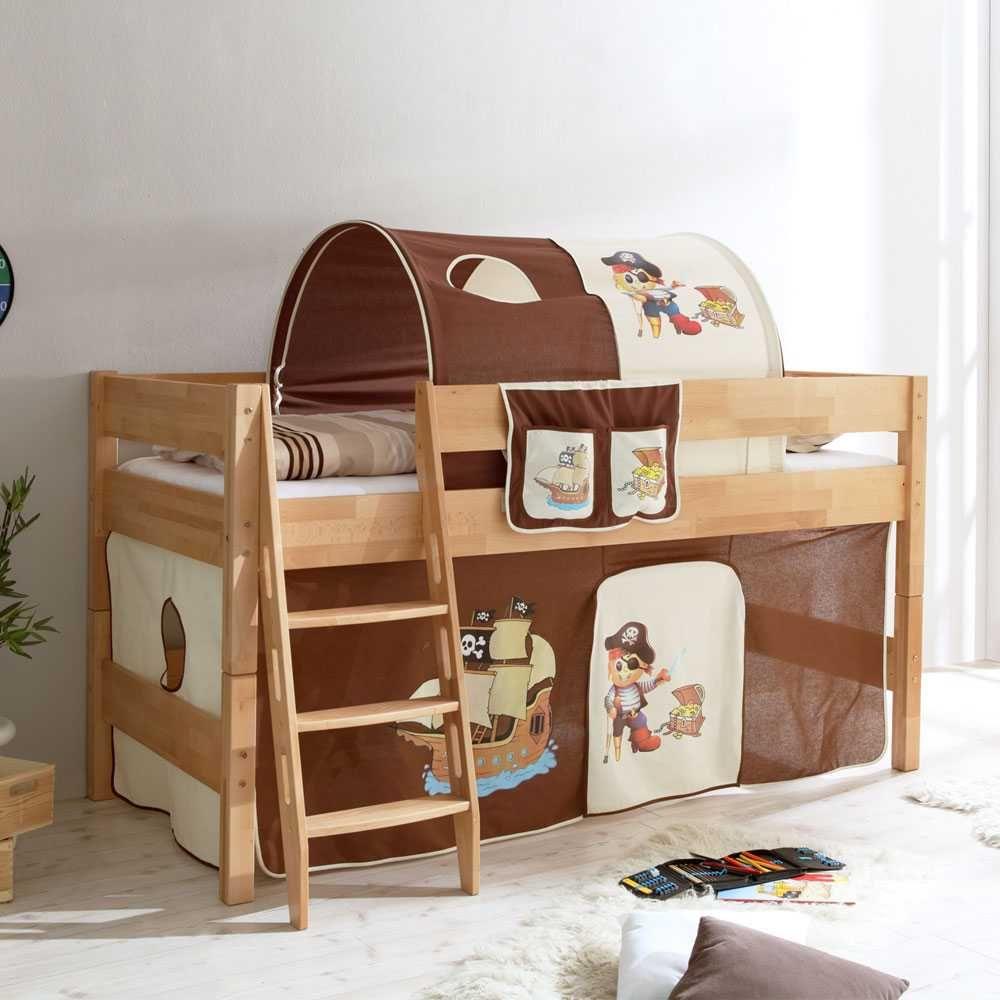 Kinderhochbett design  Kinderhochbett aus Buche Massivholz Pirat Design Jetzt bestellen ...
