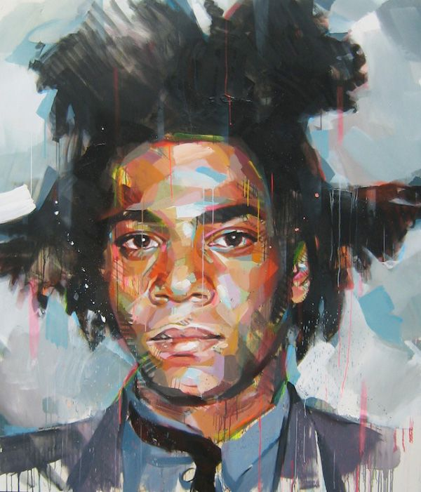 French Artist Painting Jean Micheal Basquiat