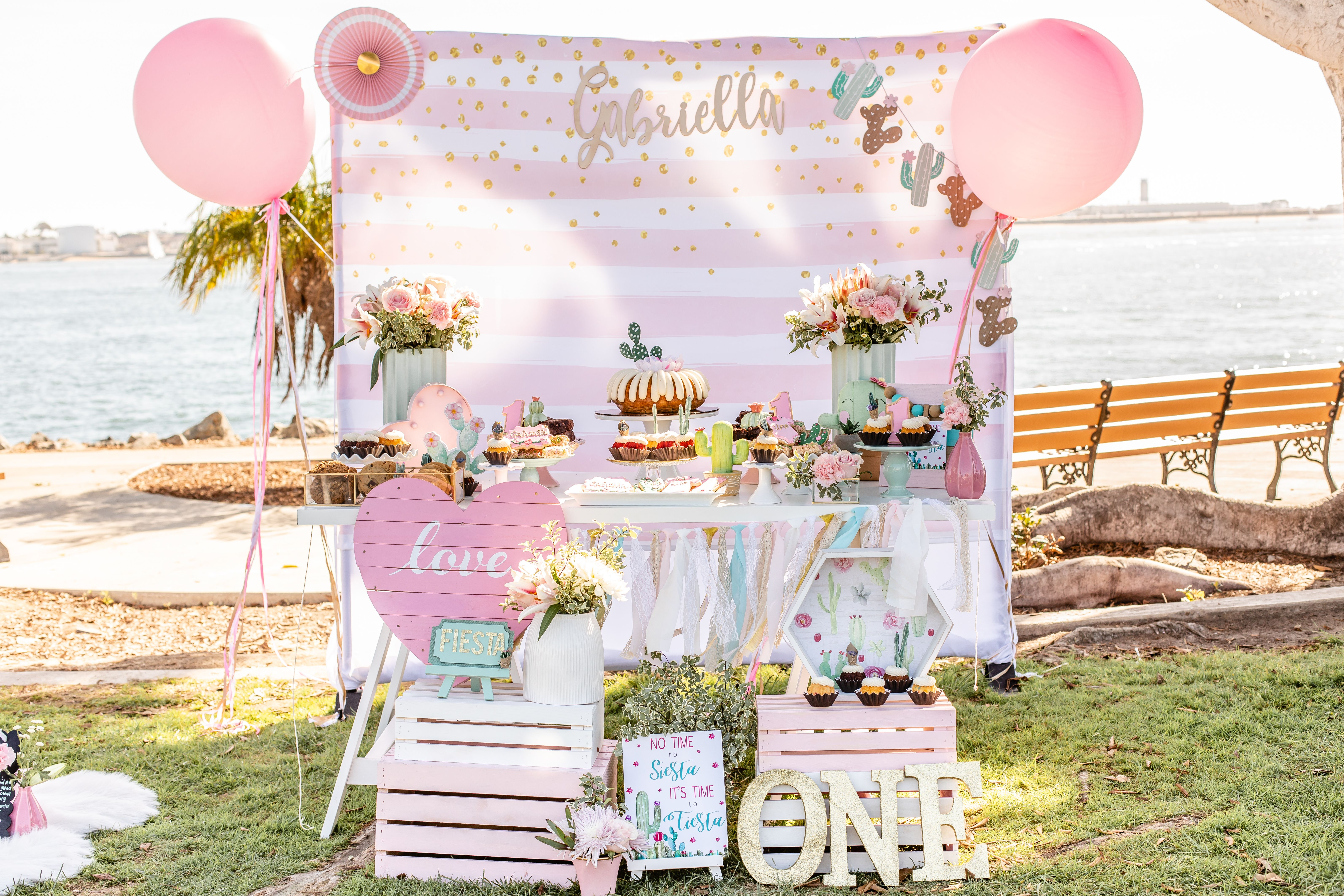 Cactus Themed 1st Birthday Party At Harbor Island In San Diego Ca