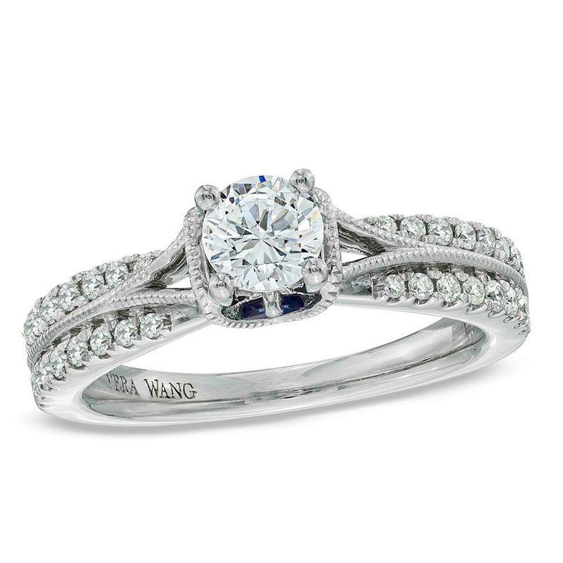 19628437 Vera wang engagement rings, Split shank