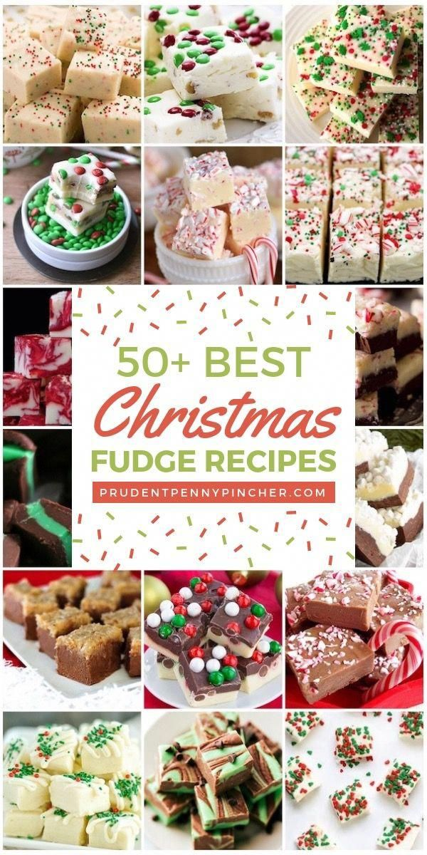 50 Best Christmas Fudge Recipes #Christmas #ChristmasDesserts #ChristmasTreats #ChristmasFood #ChristmasRecipes #ChristmasGifts #Desserts #Fudge #christmasdessertrecipes