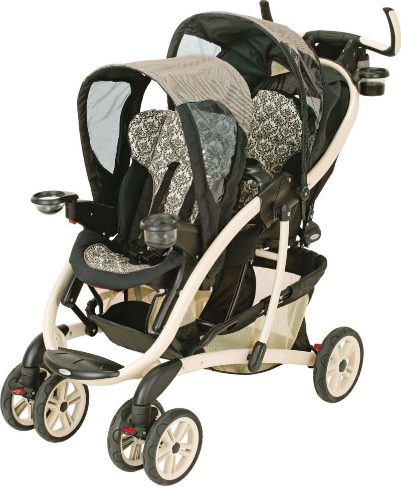 damask double baby stroller Graco
