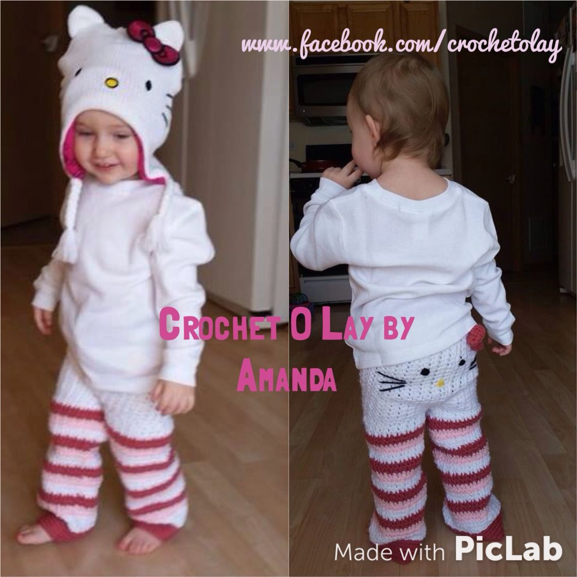 Crochet Hello Kitty Inspired Toddler Pants With Images