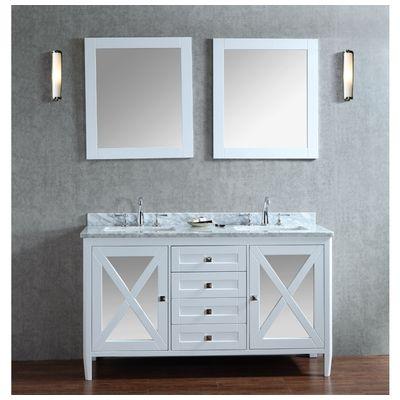 "Best Deal - Ariel by Seacliff Summit 60"" Double-Sink Bathroom Vanity Set"