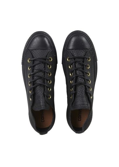 Baskets basses en cuir perforé Noir by CONVERSE | Basket ...