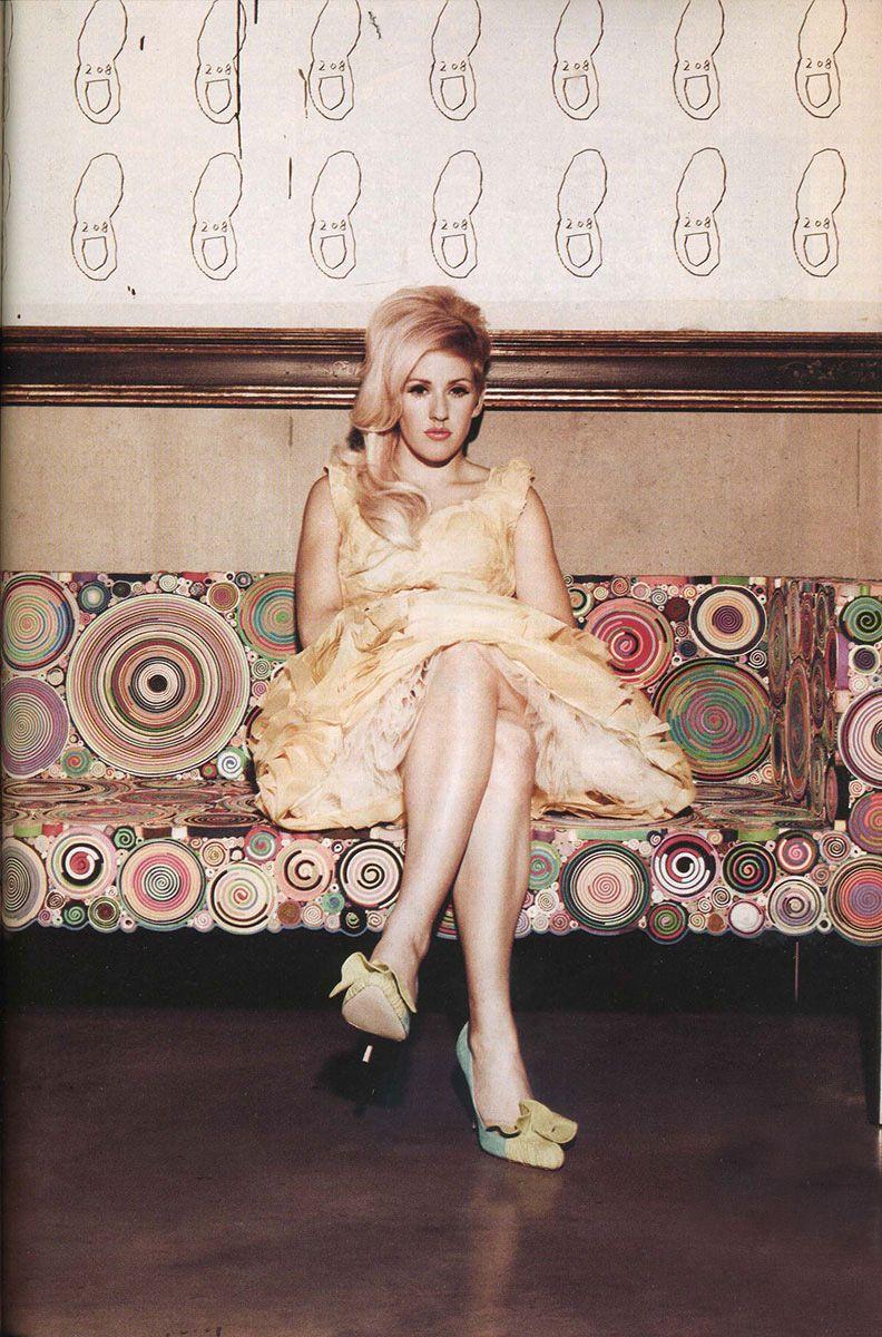 John Rocha SS13 dress in 1883 Magazine, December 2012, The cover star - Ellie Goulding, Styling by Filippo Giuliani / photo by Alexander Jordan #fashion #editorial #press