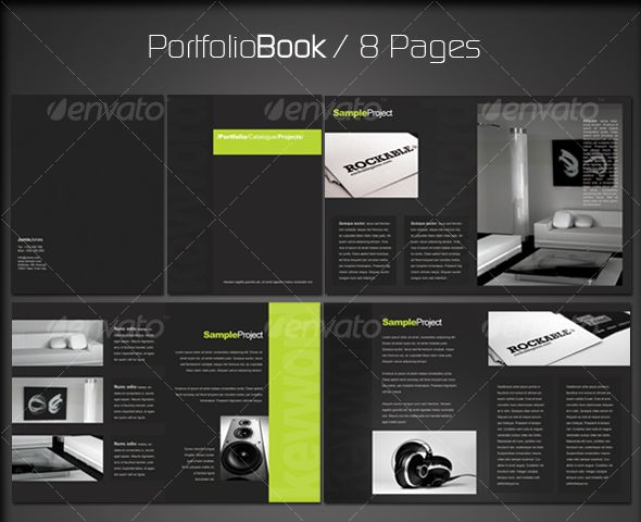 Portfolio Book 2 (8 pages) | Portfolio book, Template and ... Architecture Portfolio Layout Indesign