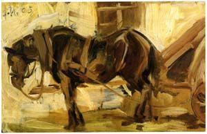Franz Marc Kleine Pferdestudie Ii 1905 Der Blaue Reiter