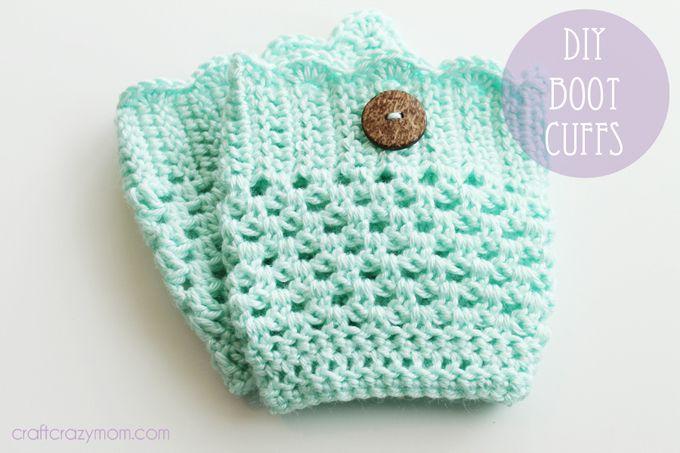 crafting on a dime) diy crochet boot cuff | Häkeln, Stricken häkeln ...
