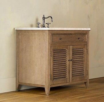 Shutter Single Vanity Sink Base Bathroom Sinks Restoration Hardware