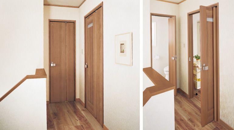 ドアの種類を知る 室内ドア 家 折れ戸