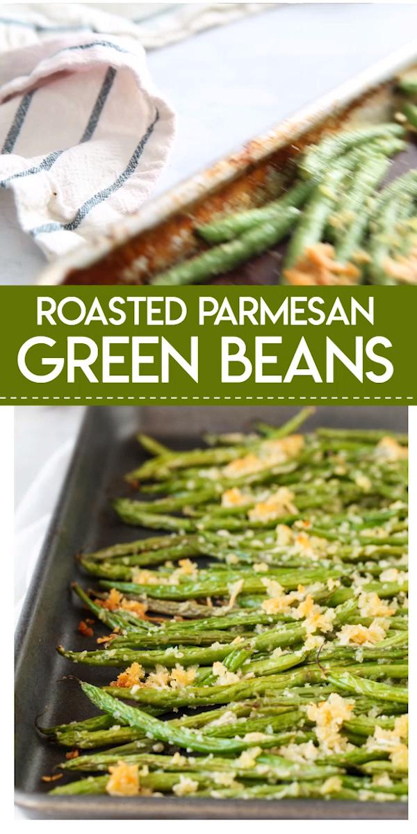 Roasted Parmesan Green Beans #greenbean