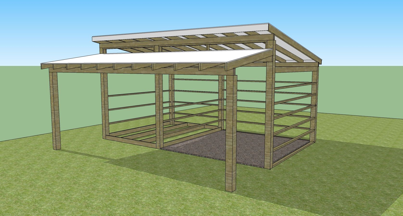Our Small Horse Barn And Tack Room In Sketchup Small