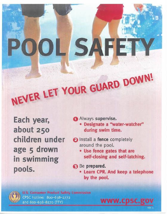 Cpsc Pool Water Safety Pinterest Swimming Pools Safety And Parents
