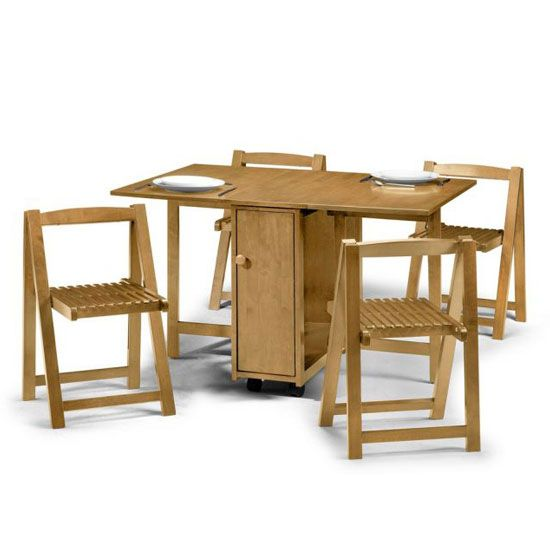 Fold Away Table And Chairs Stacking Patio Chair Covers If You Live In A Small Space Need To Use It As Efficiently Crantock Foldaway Diningtable Light Oak Are Creative Practical Furniture For Your Room