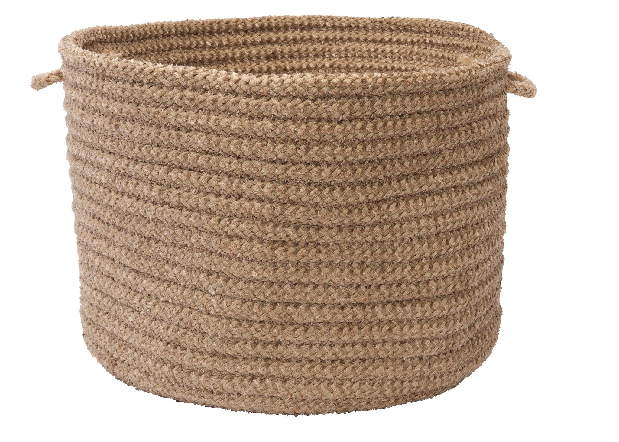 Lovely Outdoor Storage Basket #4 - Store Magazines And Toys With The Colonial Mills Softex Check Storage Basket  - 18 Diam.
