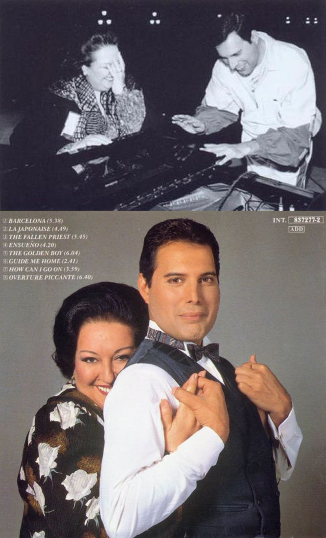Freddie Mercury & Montserrat Caballé - What a beautiful friendship bonded between them, they were the most beloved of soul mates to one another. #freddiemercury
