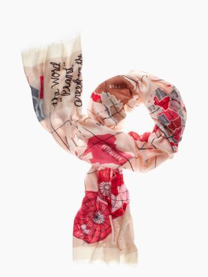 Key pieces world map scarf kate spade new york dream closet key pieces world map scarf kate spade new york gumiabroncs Images