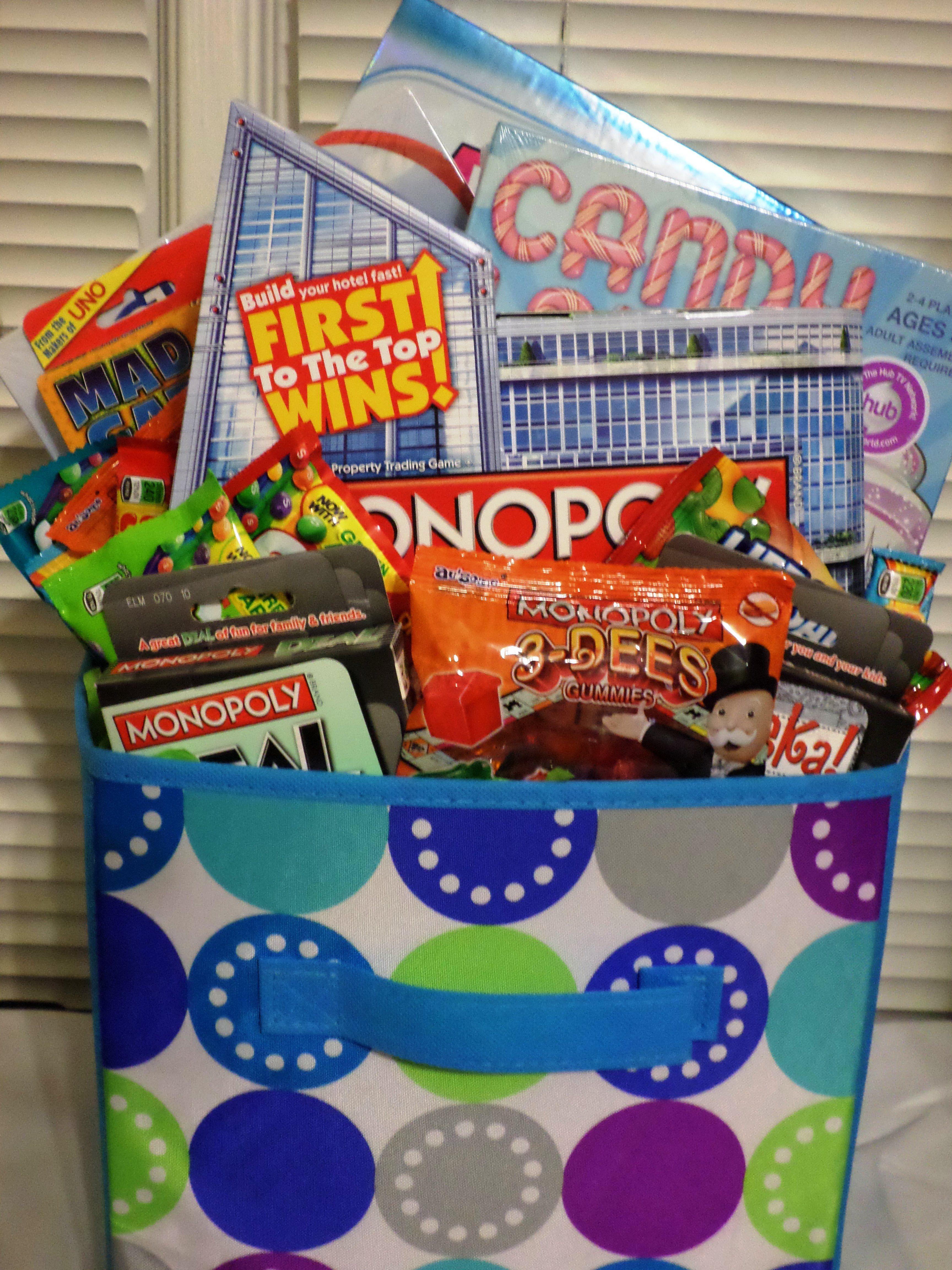 Game Night Basket Gift Baskets Pinterest Baskets