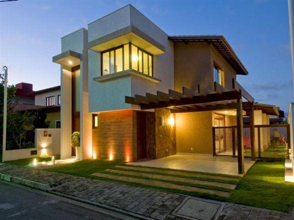 Fachadas de casas t rreas modernas pesquisa google for Estilos de casas contemporaneas