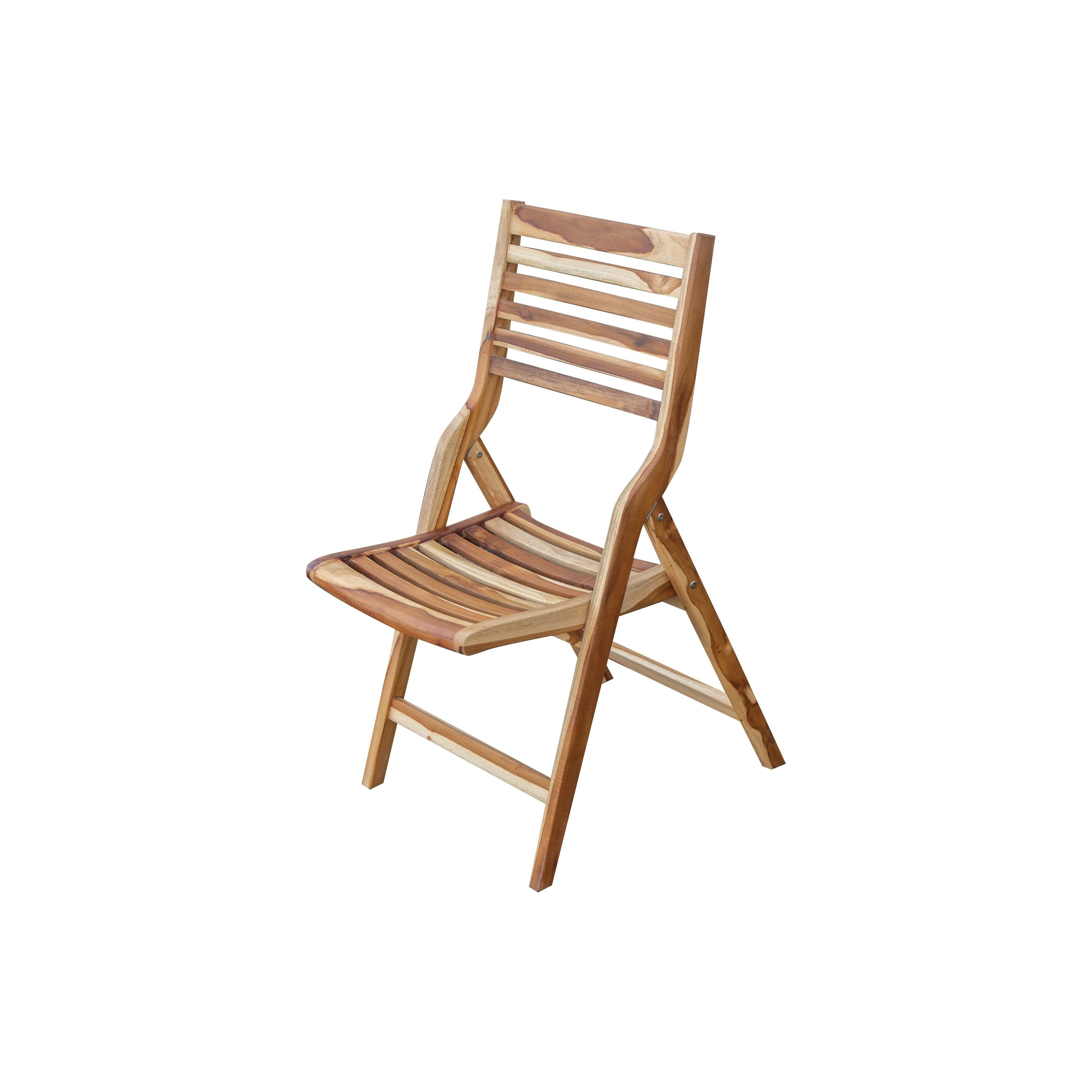 Ecodecors Mid Century Modern Teak Folding Chair Earthyteak