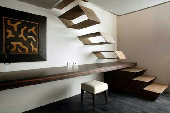 Really cool, open concept stairs.